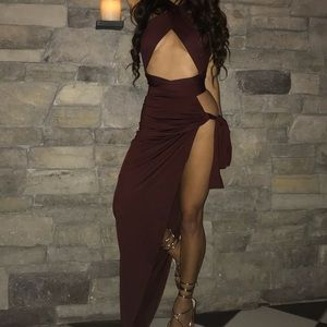 COPY - OH POLLY BURGUNDY TWO PIECE SET